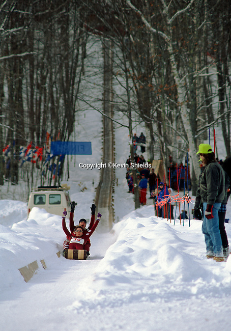 The National Toboggan Championships, Camden, Maine, USA