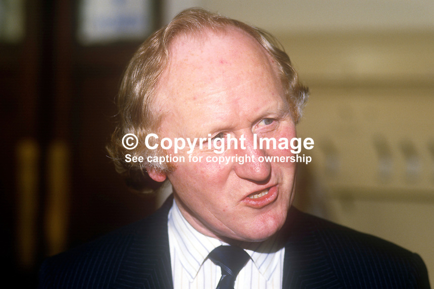 Bill Walker, MP, Tayside North, Scotland, Conservative Party, UK, May, 1986, 1986050502BW<br />