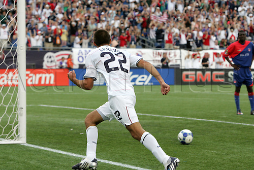 11 July 2009: Davy Arnaud (USA) celebrates his first international goal. The United States Men's National Team played the Haiti Men's National Team to a 2-2 tie at Gillette Stadium in Foxboro, Massachusetts in a 2009 CONCACAF Gold Cup first round game.(Photo by Andy Mead/ActionPlus)UK LICENSES ONLY