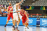 07.09.2014. Barcelona, Spain. 2014 FIBA Basketball World Cup, round of 8. Picture show E. Preldzic in action during game between Lithuania v Turkey at Palau St. Jordi.