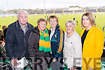 John Joe Connell and Mary O'Regan (Kilmoyley) with Kit Ryan (Tralee), Helen O'Hara (Kilmoyley) and Leanne Ryan (Tralee), pictured at the senior Hurling replay against Kilmoyley, held in Austin Stack Park, Tralee on Saturday evening last.