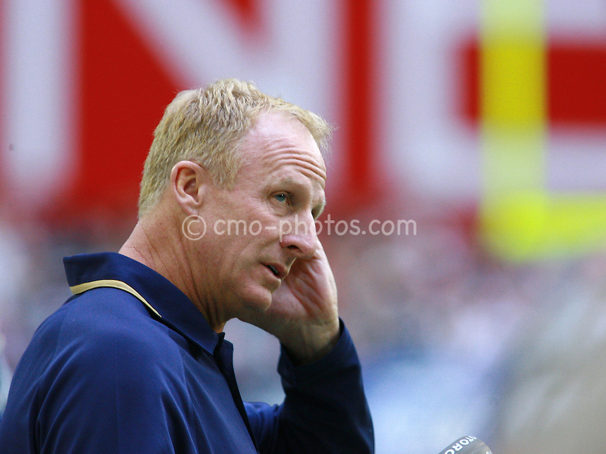 Dec 07, 2008; Glendale, AZ, USA; St. Louis Rams head coach Jim Haslett stratches his head on the sidelines in the second quarter of a game against the Arizona Cardinals at University of Phoenix Stadium.  Mandatory Credit: Chris Morrison-US PRESSWIRE