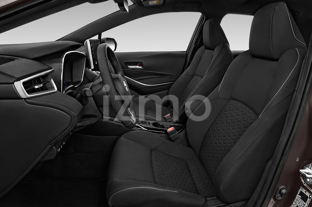 Front seat view of a 2019 Toyota Corolla Dynamic 5 Door Hatchback front seat car photos