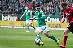 13.04.2019, Weser Stadion, Bremen, GER, 1.FBL, Werder Bremen vs SC Freiburg, <br /> <br /> DFL REGULATIONS PROHIBIT ANY USE OF PHOTOGRAPHS AS IMAGE SEQUENCES AND/OR QUASI-VIDEO.<br /> <br />  im Bild<br /> Milot Rashica (Werder Bremen #11)<br /> Einzelaktion, Ganzk&ouml;rper / Ganzkoerper<br /> <br /> <br /> Foto &copy; nordphoto / Kokenge