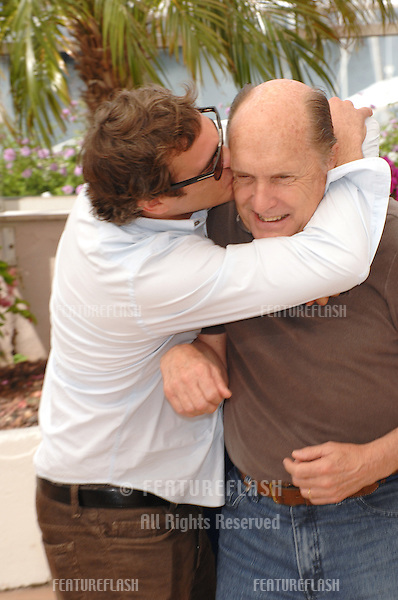 "Joaquin Phoenix (left) & Robert Duvall at photocall for their new movie ""We Own the Night"" at the 60th Annual International Film Festival de Cannes..May 25, 2007  Cannes, France..© 2007 Paul Smith / Featureflash"