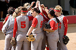 MADISON, WI - APRIL 15: The Wisconsin Badgers huddle during the game against the Purdue Boilermakers at the Goodman Diamond softball field on April 15, 2007 in Madison, Wisconsin. (Photo by David Stluka)