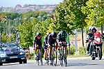 Cylance Pro Cycling team in action during Stage 1 of the Madrid Challenge by La Vuelta, a team time trial running 12.6km from Boadilla del Monte to Boadilla del Monte, Spain. 15th September 2018.                   <br /> Picture: Unipublic/Vicent Bosch | Cyclefile<br /> <br /> <br /> All photos usage must carry mandatory copyright credit (&copy; Cyclefile | Unipublic/Vicent Bosch)