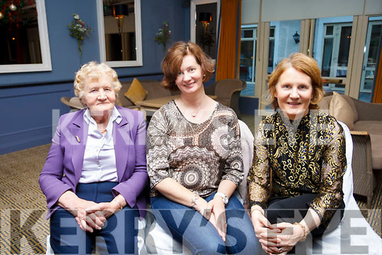 Peggy Herlihy of Scartaglin with her daughters Joan O'Connell (Ballydesmond) and Maureen Weir (Kilflynn) attending the Radio Kerry TalkAbout Christmas Afternoon Tea Party in the Ballygarry House Hotel on Sunday last are,