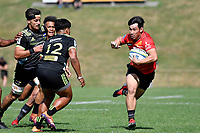 Ryoto NAKAMURA (中村 亮土) in action during the Hurricanes Hinters v Wolfpack at Jerry Collins Stadium, Porirua, New Zealand on Friday 29 March 2019. <br /> Photo by Masanori Udagawa. <br /> www.photowellington.photoshelter.com