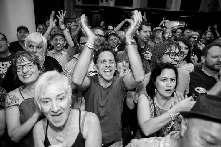 Fans enjoy an impromptu show at the Ace Hotel in New Orleans on October 07, 2017.