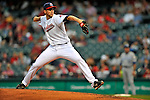 13 September 2008: Cleveland Indians' starting pitcher Bryan Bullington on the mound against the Kansas City Royals at Progressive Field in Cleveland, Ohio. The Royals defeated the Indians 8-4 in the second game, sweeping their double-header...Mandatory Photo Credit: Ed Wolfstein Photo