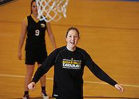 Action from the 2016 Women's Basketball Championship Playoffs match between the Oceana Gold Rush Otago and Taranaki Thunder at Te Rauparaha Arena, Porirua, Wellington, New Zealand on Friday, 13 May 2016. Photo: Dave Lintott / lintottphoto.co.nz