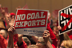 Environmental hearing, Seattle, Army Corps of Engineers host public input on Coal Ports, Coal terminals on Puget Sound, Washington State, Pacific Northwest, USA, December 13, 2012,