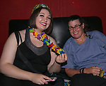 Maddy and Lindy during the Pride Rainbow Crawl in downtown Reno on Friday night, July 27, 2018.