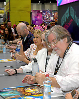 FOX FAN FAIR AT SAN DIEGO COMIC-CON© 2019: THE SIMPSONS Executive Producer Matt Groening during the THE SIMPSONS booth signing on Saturday, July 20 at the FOX FAN FAIR AT SAN DIEGO COMIC-CON© 2019. CR: Alan Hess/FOX © 2019 FOX MEDIA LLC