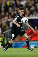 08.04.2012 SPAIN -  La Liga matchday 32th  match played between Real Madrid CF vs Valencia (0-0) and falls to 4 points behind Barcelona, at Santiago Bernabeu stadium. The picture show Aritz Aduriz Zubeldia (Forward of Valencia)