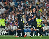 Marcelo Carrillo of Cd Leganes celebrating after scoring a goal during the match between Real Madrid v Cd Leganes of LaLiga, 2018-2019 season, date 3. Santiago Bernabeu Stadium. Madrid, Spain - 1 September 2018. Mandatory credit: Ana Marcos / PRESSINPHOTO