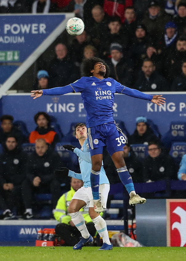 Leicester City's Hamza Choudhury<br /> <br /> Photographer Andrew Kearns/CameraSport<br /> <br /> English League Cup - Carabao Cup Quarter Final - Leicester City v Manchester City - Tuesday 18th December 2018 - King Power Stadium - Leicester<br />  <br /> World Copyright © 2018 CameraSport. All rights reserved. 43 Linden Ave. Countesthorpe. Leicester. England. LE8 5PG - Tel: +44 (0) 116 277 4147 - admin@camerasport.com - www.camerasport.com