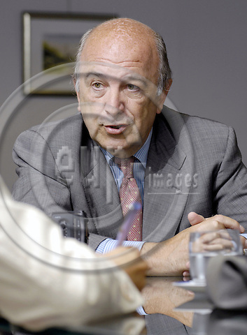 Brussels-Belgium - 01 September 2008---Joaquín (Joaquin) ALMUNIA, European Commissioner in charge of Economic and Monetary Affairs, during an interview in his office---Photo: Horst Wagner / eup-images