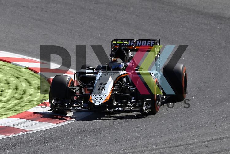 Barcelona, 10.05.15, Motorsport, Formel 1 GP Spanien 2015, Freies Training : Sergio Perez (Force India VJM08, #11)<br /> <br /> Foto &copy; P-I-X.org *** Foto ist honorarpflichtig! *** Auf Anfrage in hoeherer Qualitaet/Aufloesung. Belegexemplar erbeten. Veroeffentlichung ausschliesslich fuer journalistisch-publizistische Zwecke. For editorial use only.