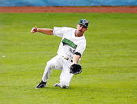 July 30, 2009:  Outfielder Erik Kanaby of the Jamestown Jammers  during a game at Russell Diethrick Park in Jamestown, NY.  The Jammers are the NY-Penn League Short-Season Single-A affiliate of the Florida Marlins.  Photo By Mike Janes/Four Seam Images