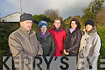 Residents of St. Brendan's Park and surrounding area delighted with the unanimous vote for the go ahead of the Fenit Rail Line Walkway on Monday night at Tralee UDC, from left: Joe Cotter, Mary Cotter, Finbarr Griffin, Catriona Cantillon and Margaret Lynch