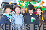 Brianne Griffin-Coffey, Nicole Cronin, Winona Casey, Emma O'Sullivan and Emma Lowin from Pony Tales Stables Killarney who participated in the Killarney St Patricks Day parade on Sunday..