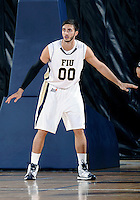 Florida International University guard Manuel Nunez (00) plays against Florida Memorial University in an exhibition game .  FIU won the game 86-69 on November 9, 2011 at Miami, Florida. .