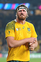 Kane Douglas of Australia takes it all in after winning Match 26 of the Rugby World Cup 2015 between England and Australia - 03/10/2015 - Twickenham Stadium, London<br /> Mandatory Credit: Rob Munro/Stewart Communications