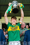 David Clifford Kerry captain with the cup after the Munster Minor Football Final at Fitzgerald Stadium on Sunday.