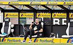 Trainer Marco Rose (Bor. Moenchengladbach) mit dem verdienten Bier nach dem Sieg 2:0 über Hertha BSC Berlin und dem Erreichen der Championsleague Teilnahme.<br /><br />27.06.2020, Fussball, 1. Bundesliga, Saison 2019/20, 34. Spieltag, Borussia Moenchengladbach - Hertha BSC Berlin, <br /><br />Foto: MORITZ MUELLER/POOL/via/Meuter/Nordphoto<br />Only for Editorial use