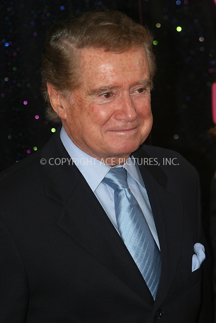 WWW.ACEPIXS.COM . . . . .  ....May 27, 2008. New York City,....TV personality Regis Philbin attends the 'Sex and the City' premiere held at Radio City Music Hall.......Please byline: NANCY RIVERA - ACEPIXS.COM.... *** ***..Ace Pictures, Inc:  ..Philip Vaughan  (646) 769 0430..e-mail: info@acepixs.com..web: http://www.acepixs.com