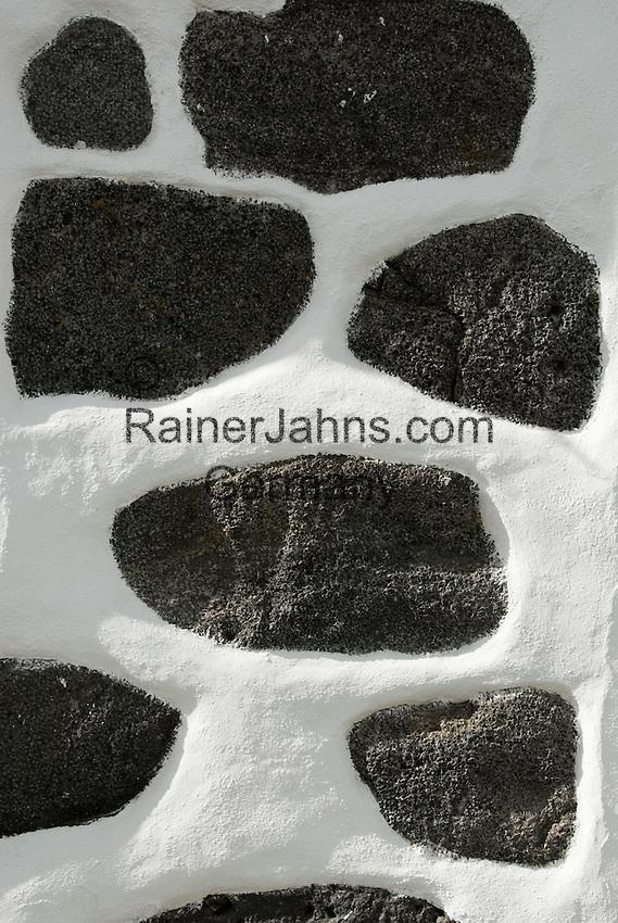 Spain, Canary Islands, La Palma, Los Llanos de Aridane: wall, stones, structure