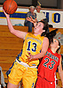 Alexa Gentile #13 of Massapequa drives to the hoop for two points during a Nassau County Conference AA-I varsity girls' basketball game against Syosset at Massapequa High School on Friday, Jan. 15, 2016. Massapequa won by a score of 60-33.