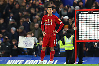 3rd March 2020; Stamford Bridge, London, England; English FA Cup Football, Chelsea versus Liverpool; A dejected Roberto Firmino of Liverpool after the 2-0 loss