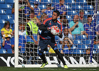 Lukasz Fabianski of Swansea warms up   during the Barclays Premier League match between  Chelsea and Swansea  played at Stamford Bridge, London