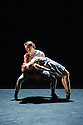 London, UK. 18.06.2015. English National Ballet presents CHOREOGRAPHICS, an evening of new work from emerging and developing choreographers, in the Lilian Baylis studio at Sadler's Wells. This piece is A TOUCH OF ETERNITY, choreographed by James Streeter. The dancers are: Adela Ramirez, Juan Rodriguez. Photograph © Jane Hobson.