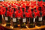 Tio Pepe sherry bottles at Gonzalez Byass bodega, Jerez de la Frontera, Cadiz province, Spain