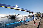 Rowing, Seattle, Seattle Rowing Center, coach Harrison Shure coaching middle school, high school rowers, workout, Lake Washington Ship Canal,