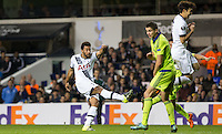 Substitute Mousa Dembele of Tottenham Hotspur hits a wonder goal to secure a win for his team late in the game during the UEFA Europa League Group J match between Tottenham Hotspur and R.S.C. Anderlecht at White Hart Lane, London, England on 5 November 2015. Photo by Andy Rowland.