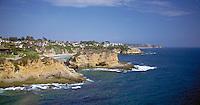 Laguna Beach, CA, Aerial View, Whale Island, Coast, Waterfront, Luxury Home's Cliffs,