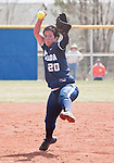 April 7, 2012:   Nevada Wolf Pack pitcher Karlyn Jones throws against the San Jose State Spartans during their NCAA softball game played at Christina M. Hixson Softball Park on Saturday in Reno, Nevada.