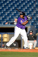 Akron Aeros outfielder Carlos Moncrief #24 during a game against the Trenton Thunder on April 22, 2013 at Canal Park in Akron, Ohio.  Trenton defeated Akron 13-8.  (Mike Janes/Four Seam Images)