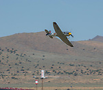Pilot Sherman Smooot takes Argonaut out for a practice run during the National Championship Air Races in Reno, Nevada on Wednesday, September 13, 2017.