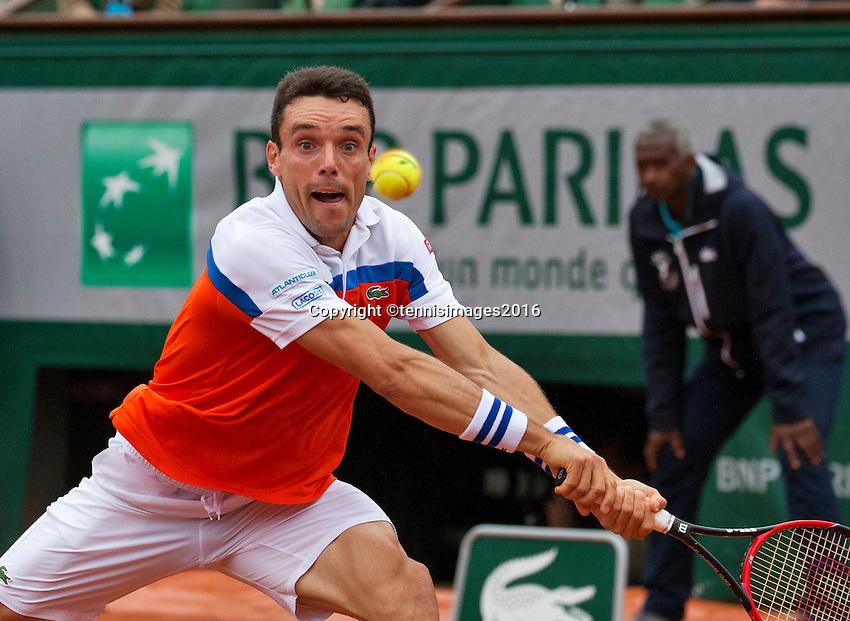 Paris, France, 31 June, 2016, Tennis, Roland Garros, Roberto Bautista Agut (ESP)<br /> Photo: Henk Koster/tennisimages.com