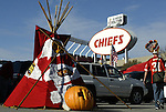31 October 2004: Tailgating and Halloween before the game. The Kansas City Chiefs defeated the Indianapolis Colts 45-35 at Arrowhead Stadium in Kansas City, MO in a regular season National Football League game..