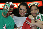 06 February 2008: Mexico fans. The United States Men's National Team played the Mexico Men's National Team to a 2-2 tie at the Reliant Stadium in Houston, TX in a men's international friendly soccer game.