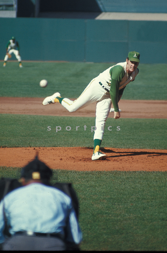 Oakland A's Chuck Dobson (29) in action during a game at Oakland-Alameda County Coliseum in Oakland, California. Chuck Dobson played for 9 years with 3 different teams.