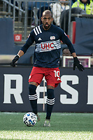 FOXBOROUGH, MA - MARCH 7: Teal Bunbury #10 of New England Revolution during a game between Chicago Fire and New England Revolution at Gillette Stadium on March 7, 2020 in Foxborough, Massachusetts.
