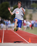Luke Elsaman, of Washoe, competes in the long jump event the Special Olympics Nevada 2013 Summer Games in Reno, Nev., on Saturday, June 1, 2013. <br /> Photo by Cathleen Allison